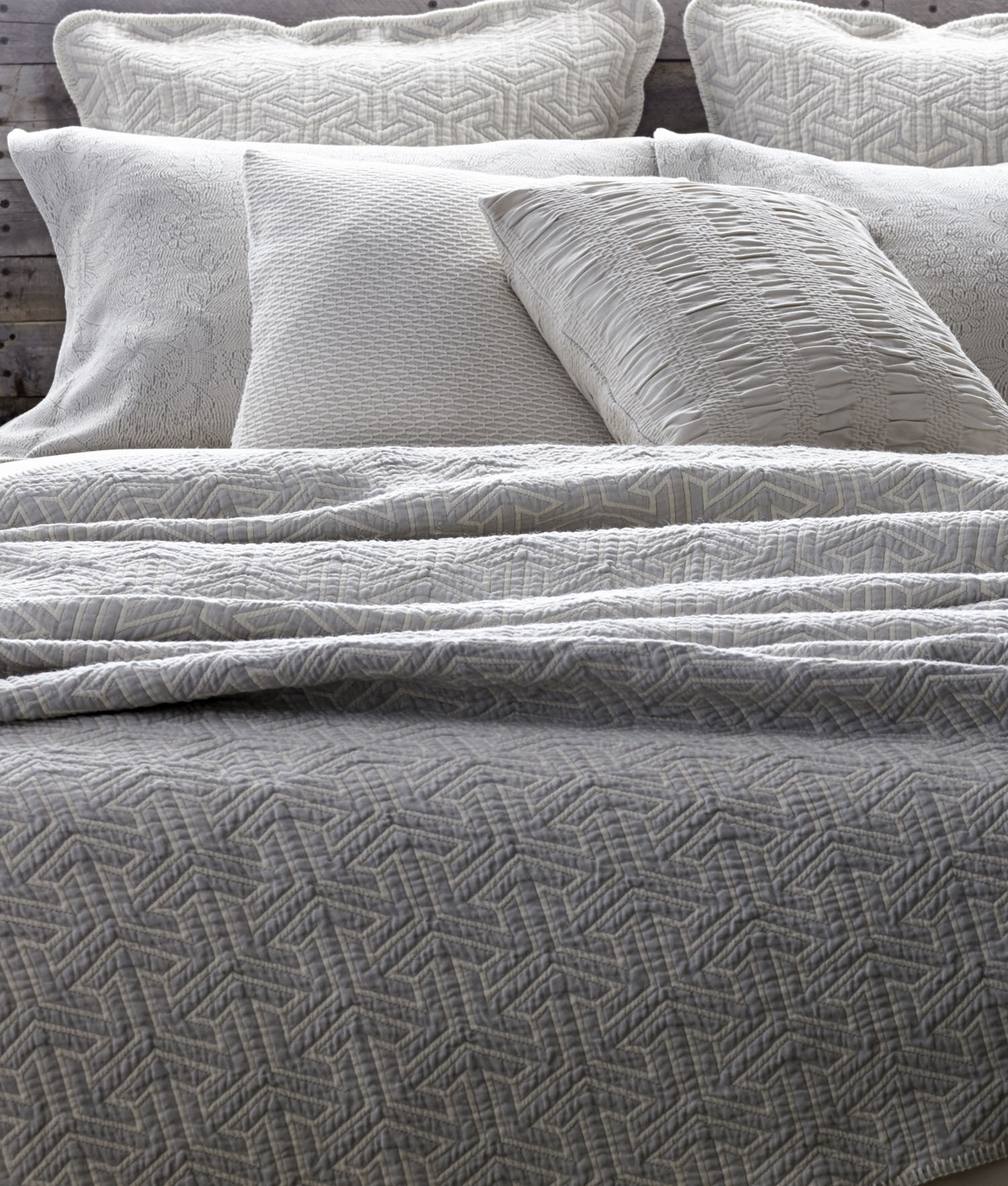 Delightful Arrows Matelassé Coverlet