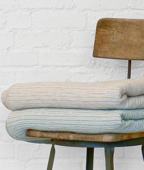 Americana Stripe Blanket-Stitched Throw