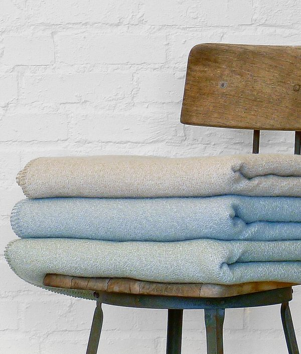 Americana Texture Solid Blanket-Stitched Throw