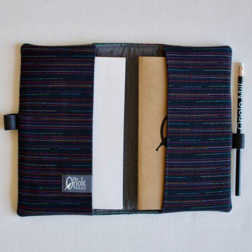journal sleeve mint open